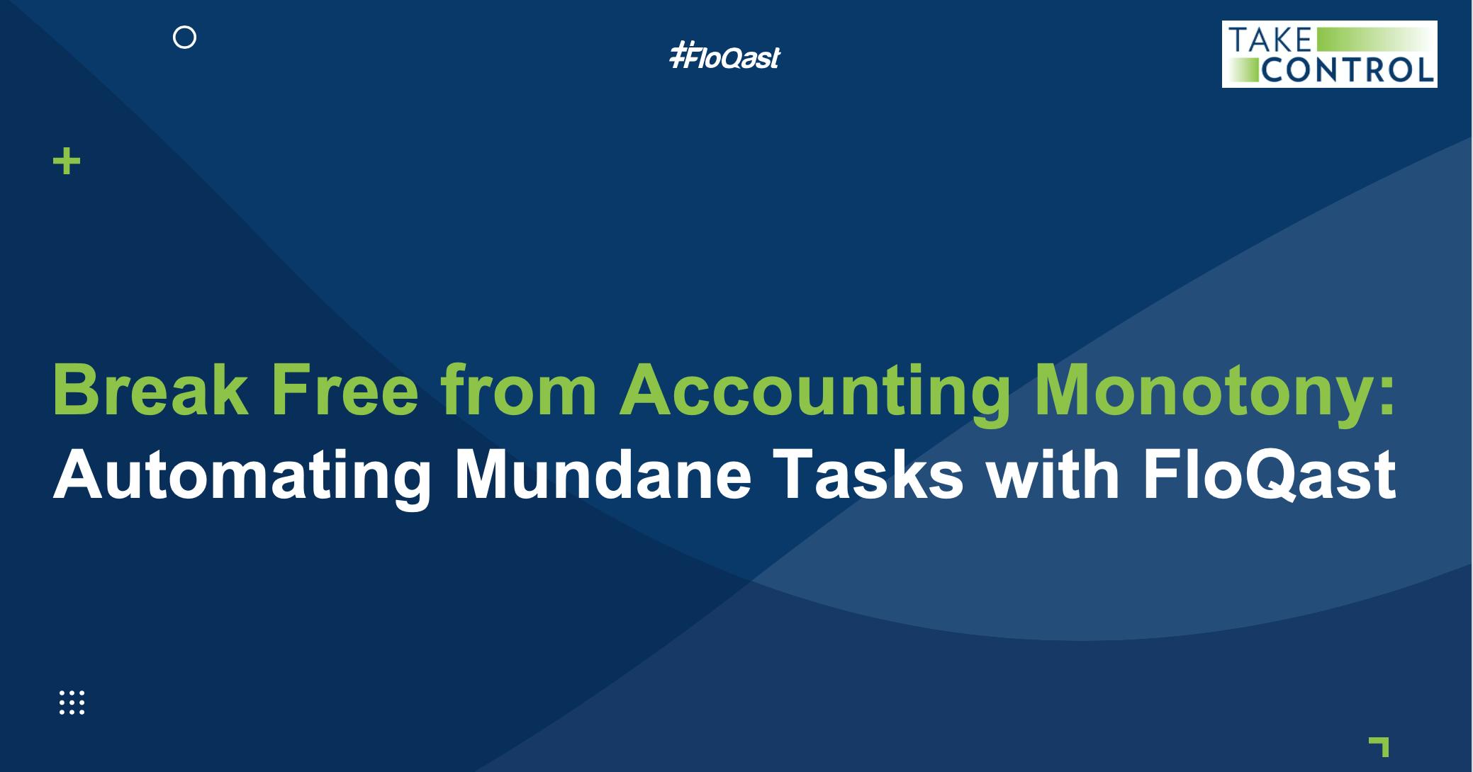 Break Free from Accounting Monotony
